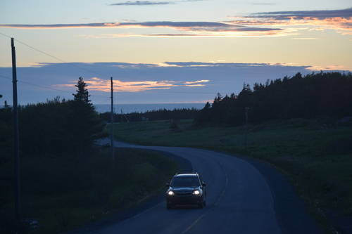 Winding Roads & Sunset Sky in Rocky Harbour, Newfoundland & Labrador, Canada